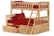 Кровать чердак Модерн двухъярусная с ящиками