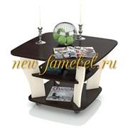 Стол журнальный 6-0210, цвет венге/вяз светлый, ШхГхВ 77х77х50 см.