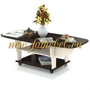 Стол журнальный, трансформер, цвет венге/вяз светлый, ШхГхВ 74х66х46 см., 138х66х46 разложенный