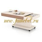 Стол журнальный с ящиком 6-0221Тяс.св.МДФ, цвет ясень шимо тёмный/ясень шимо светлый, ШхГхВ 101х66х53 см.